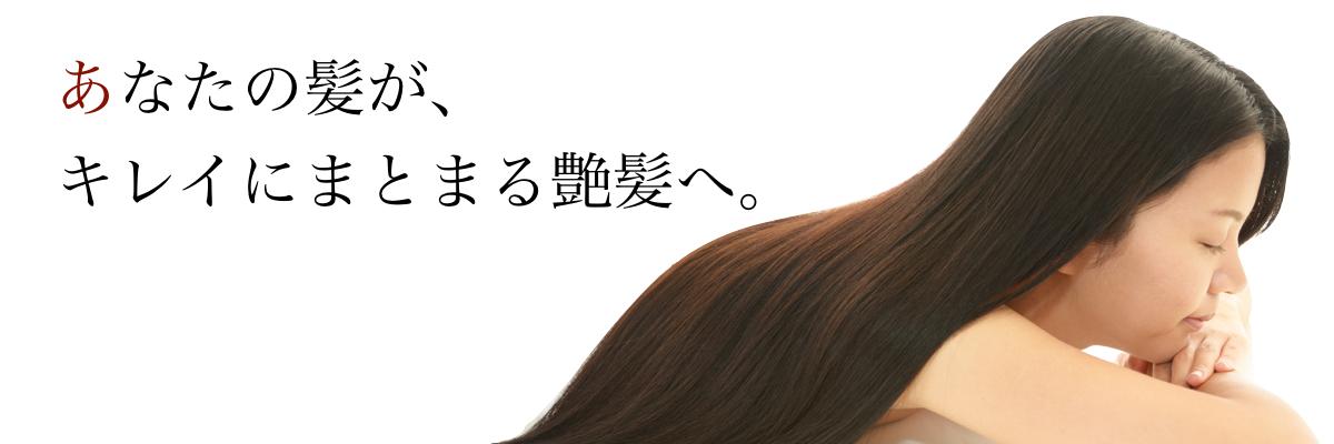 あなたの髪が、キレイにまとまる艶髪へ。